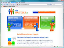 Screenshot of the Hire Strategies website