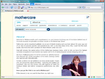 Screenshot of the Mothercare jobs website