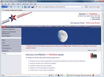 Screenshot of the Region 11 Training website