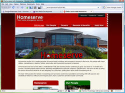 Screenshot of the Homeserve career site