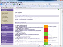 New Media CMS - Link checker in action