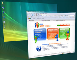A screenshot of a website designed by New Media Development
